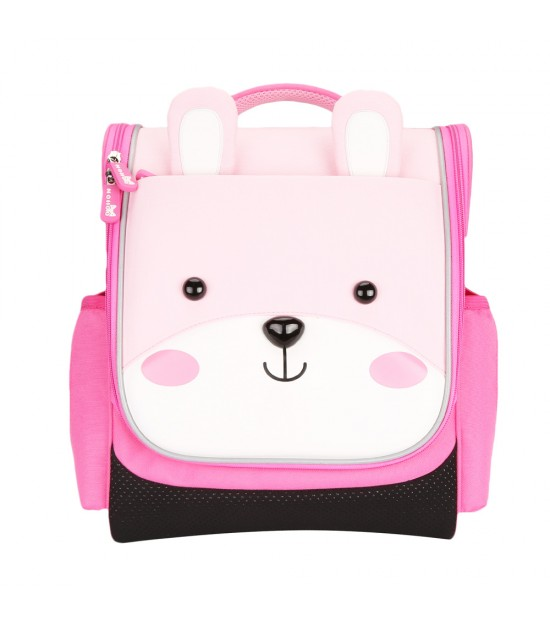 Nohoo Jungle Kids School Bag - Sapiential Bear Pink